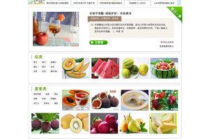 清新大气水果养生网站模板下载