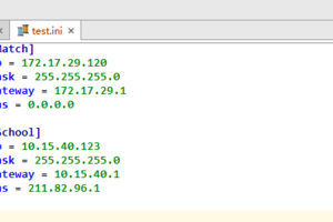 Python常用内置模块之configparser模块